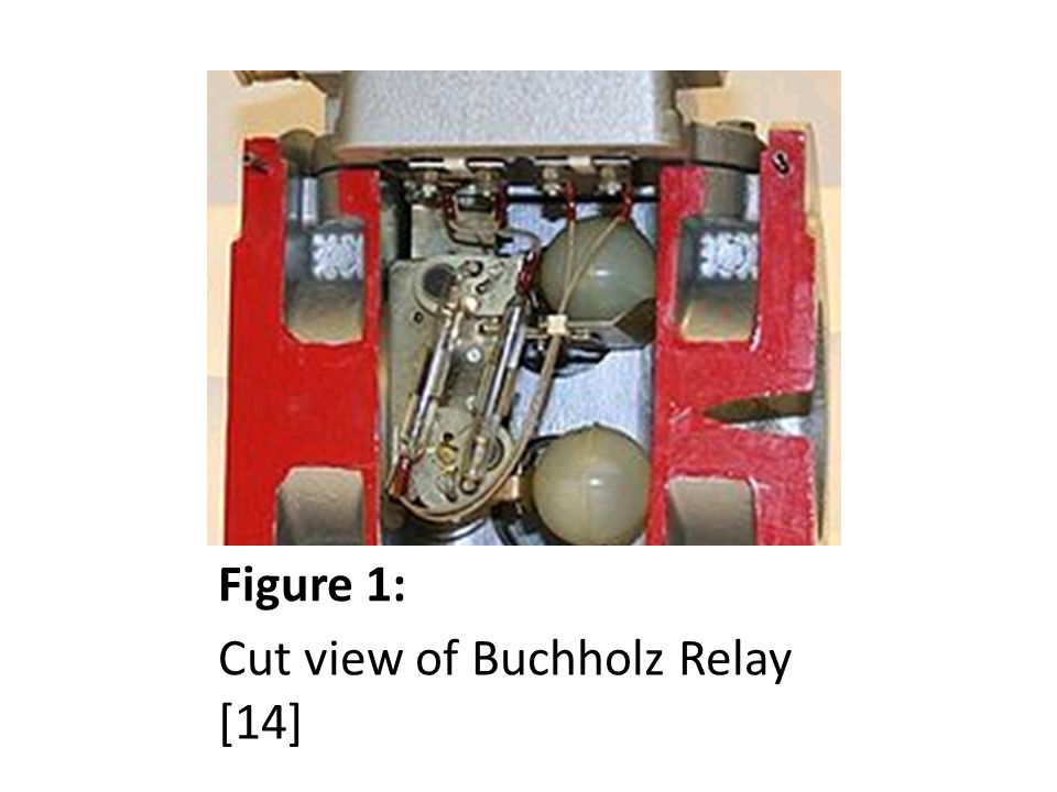 Figure 1: Cut view of Buchholz Relay [14]